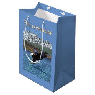 Bald Eagle Diving - West Yellowstone, MT Medium Gift Bag