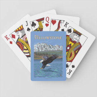 Bald Eagle Diving - West Yellowstone, MT Playing Cards