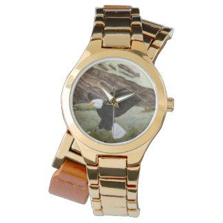 Bald Eagle Double Rap Gold Watch