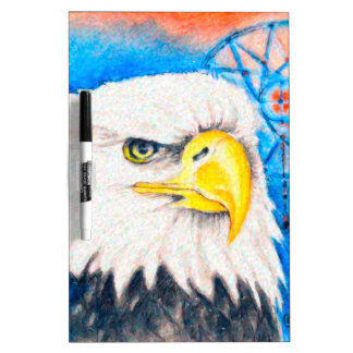 Bald Eagle Dreamcatcher Art Dry Erase Whiteboard