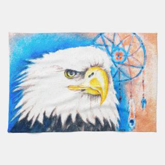 Bald Eagle Dreamcatcher Art Hand Towels
