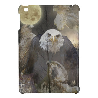 Bald Eagle, Falcon, Hawk & Owl Wildlife Art iPad Mini Covers