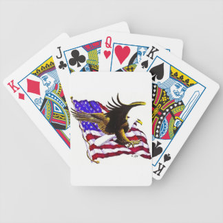 Bald Eagle & Flag Bicycle Playing Cards