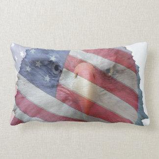 Bald Eagle Flag Bird Wildlife Animal Throw Pillow