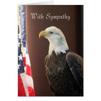 Bald Eagle Flag Sympathy Card