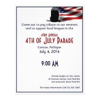 Bald Eagle Flies the Flag 4th of July Flyer Design