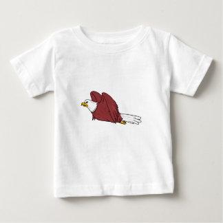 Bald Eagle Flying Cartoon Baby T-Shirt