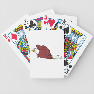 Bald Eagle Flying Cartoon Bicycle Playing Cards