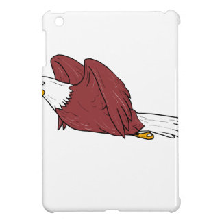 Bald Eagle Flying Cartoon Cover For The iPad Mini