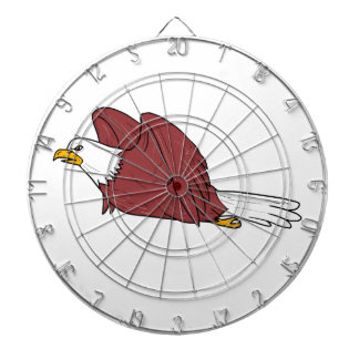 Bald Eagle Flying Cartoon Dartboard
