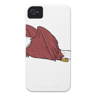 Bald Eagle Flying Cartoon iPhone 4 Case-Mate Case