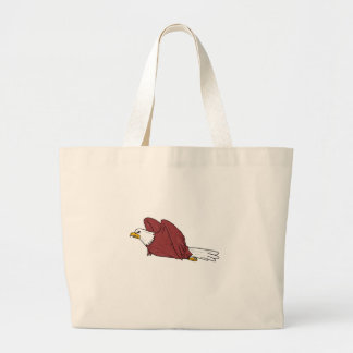 Bald Eagle Flying Cartoon Large Tote Bag