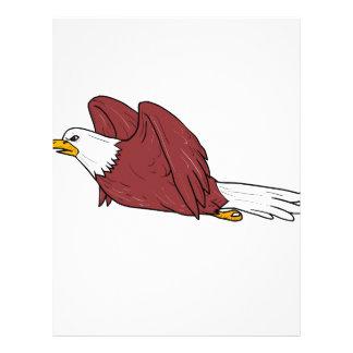 Bald Eagle Flying Cartoon Letterhead