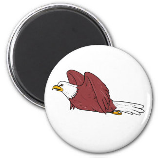 Bald Eagle Flying Cartoon Magnet