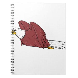 Bald Eagle Flying Cartoon Notebook