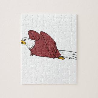 Bald Eagle Flying Cartoon Puzzle