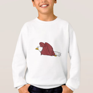Bald Eagle Flying Cartoon Sweatshirt