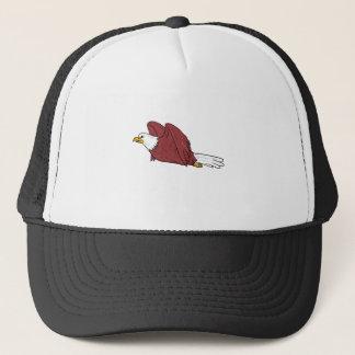 Bald Eagle Flying Cartoon Trucker Hat