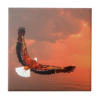 Bald eagle flying ceramic tiles