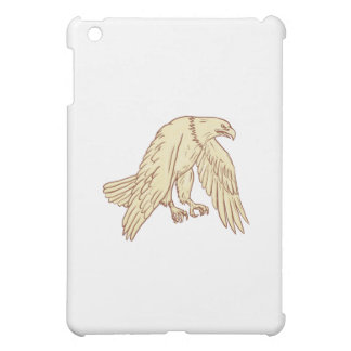 Bald Eagle Flying Wings Down Drawing iPad Mini Case