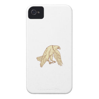 Bald Eagle Flying Wings Down Drawing iPhone 4 Case