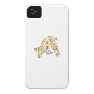 Bald Eagle Flying Wings Down Drawing iPhone 4 Cover