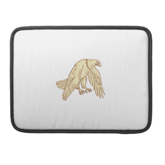 Bald Eagle Flying Wings Down Drawing Sleeve For MacBook Pro