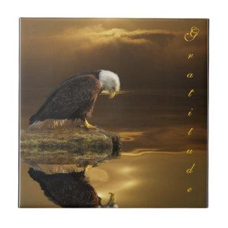 Bald Eagle Gratitude Decorative Tile