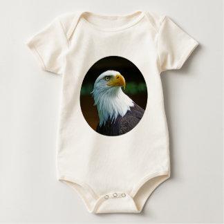 Bald Eagle Head 001 02.1 rd Baby Bodysuit