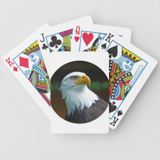 Bald Eagle Head 001 02.1 rd Bicycle Playing Cards