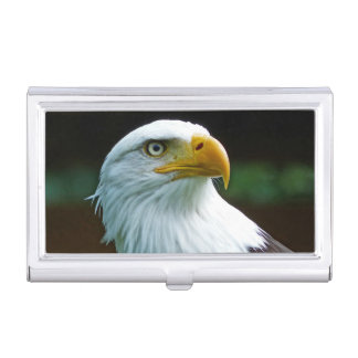 Bald Eagle Head Business Card Holder