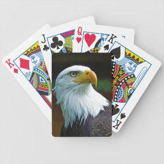 Bald Eagle Head Poker Deck