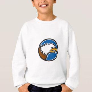 Bald Eagle Head Screaming Circle Retro Sweatshirt