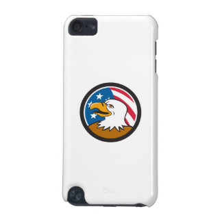 Bald Eagle Head Smiling USA Flag Circle Cartoon iPod Touch (5th Generation) Cover