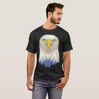 Bald Eagle Head USA T-Shirt Geometric Polygon