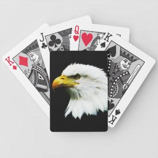 Bald Eagle Headshot Photo Poker Deck
