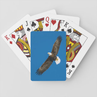 Bald Eagle In Clear Blue Sky Playing Cards