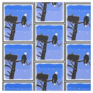 Bald Eagle in Winter Fabric