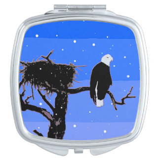 Bald Eagle in Winter Travel Mirrors