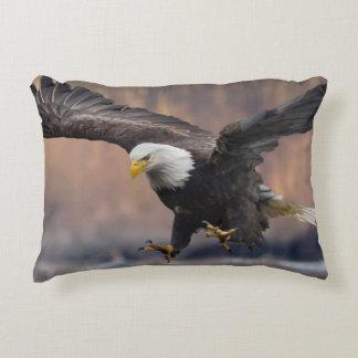 Bald Eagle landing Decorative Pillow
