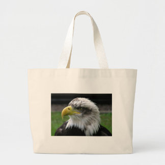 bald-eagle large tote bag