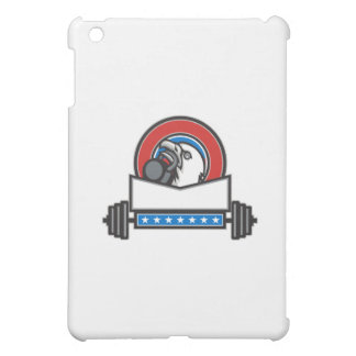 Bald Eagle Lifting Kettleball Barbell Circle Retro Cover For The iPad Mini