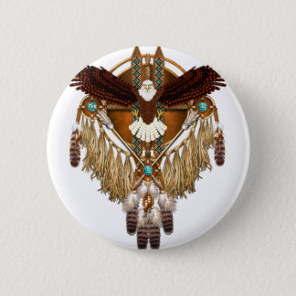 Bald Eagle Mandala - revised 2 Inch Round Button