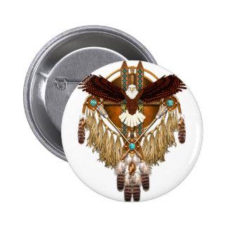 Bald Eagle Mandala - revised 2 Inch Round Button