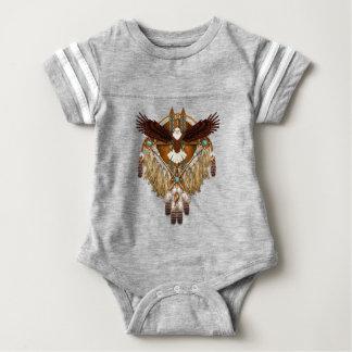 Bald Eagle Mandala - revised Baby Bodysuit
