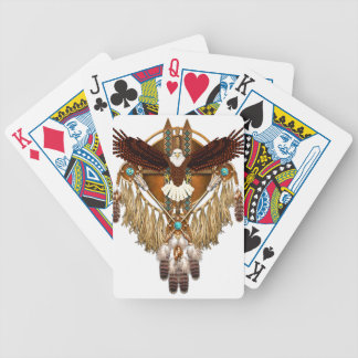 Bald Eagle Mandala - revised Bicycle Playing Cards