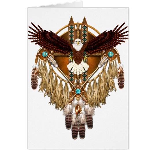 Bald Eagle Mandala - revised Card