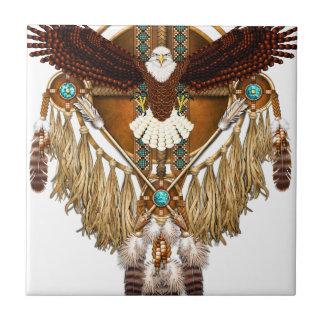 Bald Eagle Mandala - revised Ceramic Tile