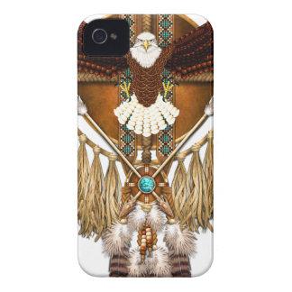 Bald Eagle Mandala - revised iPhone 4 Case