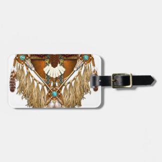 Bald Eagle Mandala - revised Luggage Tag